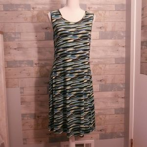 Klozlyne Bright Multicolored Sleeveless Dress  B37